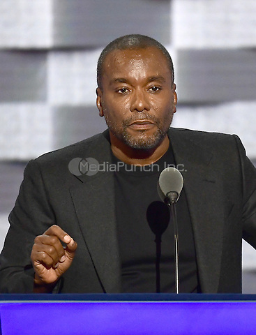 Director Lee Daniels makes remarks during the third session of the 2016 Democratic National Convention at the Wells Fargo Center in Philadelphia, Pennsylvania on Wednesday, July 27, 2016.<br /> Credit: Ron Sachs / CNP/MediaPunch<br /> (RESTRICTION: NO New York or New Jersey Newspapers or newspapers within a 75 mile radius of New York City)
