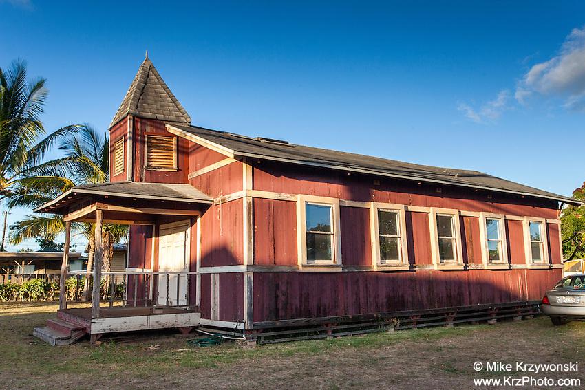 Historic Kealiiokamalu Church, Haleiwa, Oahu, Hawaii