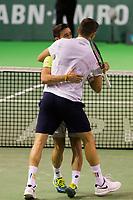 Rotterdam, Netherlands, 12 Februari, 2018, Ahoy, Tennis, ABNAMROWTT, Damir Dzumhur (BIH) / Filip Krajinovic (SRB)<br /> Photo:tennisimages.com