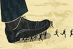 Business people getting stepped on