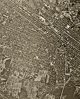 historical aerial of Richmond, Virginia, 1952