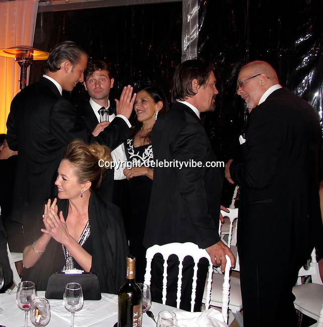 **EXCLUSIVE**.George Belesis, John Buffalo Mailer, Josh Brolin, Frank Langella, guest and Diane Lane..Wall Street: Money Never Sleeps Premiere Post Party - Inside..Cannes Film Festival..Villa in La Californie..Cannes, France..Friday, May 14, 2010..Photo By CelebrityVibe.com.To license this image please call (212) 410 5354; or Email: CelebrityVibe@gmail.com ; .website: www.CelebrityVibe.com.