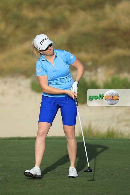 during the first round of the Fatima Bint Mubarak Ladies Open played at Saadiyat Beach Golf Club, Abu Dhabi, UAE. 10/01/2019<br /> Picture: Golffile | Phil Inglis<br /> <br /> All photo usage must carry mandatory copyright credit (&copy; Golffile | Phil Inglis)