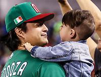 Luis Mendoza pitcher de Mexico , durante Cl&aacute;sico Mundial de Beisbol en el Estadio de Charros de Jalisco.<br /> Guadalajara Jalisco a 9 Marzo 2017 <br /> Photo: NortePhoto.com/Luis Gutierrez)