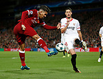 Roberto Firmino of Liverpool fires in a shot during the Champions League Group E match at the Anfield Stadium, Liverpool. Picture date 13th September 2017. Picture credit should read: Simon Bellis/Sportimage