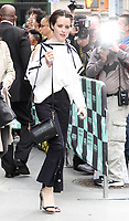 NEW YORK, NY - OCTOBER 11: Claire Foy spotted leaving 'AOL Build'  in New York, New York on October 11, 2017.  <br /> CAP/MPI/RMP<br /> &copy;RMP/MPI/Capital Pictures