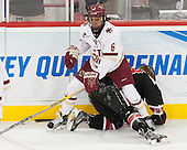 Kaliya Johnson (BC - 6), Paige Savage (NU - 28) - The Boston College Eagles defeated the Northeastern University Huskies 5-1 (EN) in their NCAA Quarterfinal on Saturday, March 12, 2016, at Kelley Rink in Conte Forum in Boston, Massachusetts.