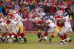 San Francisco 49ers running back Frank Gore (21) carries the ball during an NFC Championship NFL football game against the New York Giants on January 22, 2012 in San Francisco, California. The Giants won 20-17 in overtime. (AP Photo/David Stluka)
