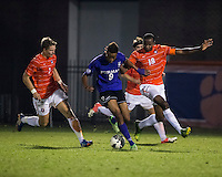 The number 24 ranked Furman Paladins took on the number 20 ranked Clemson Tigers in an inter-conference game at Clemson's Riggs Field.  Furman defeated Clemson 2-1.  Bobby Edet (9), Phanuel Kavita (18), Alex Stockinger (7)