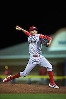 Williamsport Crosscutters pitcher Kenny Koplove (3) delivers a pitch during a game against the Batavia Muckdogs on August 27, 2015 at Dwyer Stadium in Batavia, New York.  Batavia defeated Williamsport 3-2.  (Mike Janes/Four Seam Images)