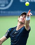 Andy Murray (GBR) defeats John Isner (USA) 6-7(3), 6-4, 7-6(2)