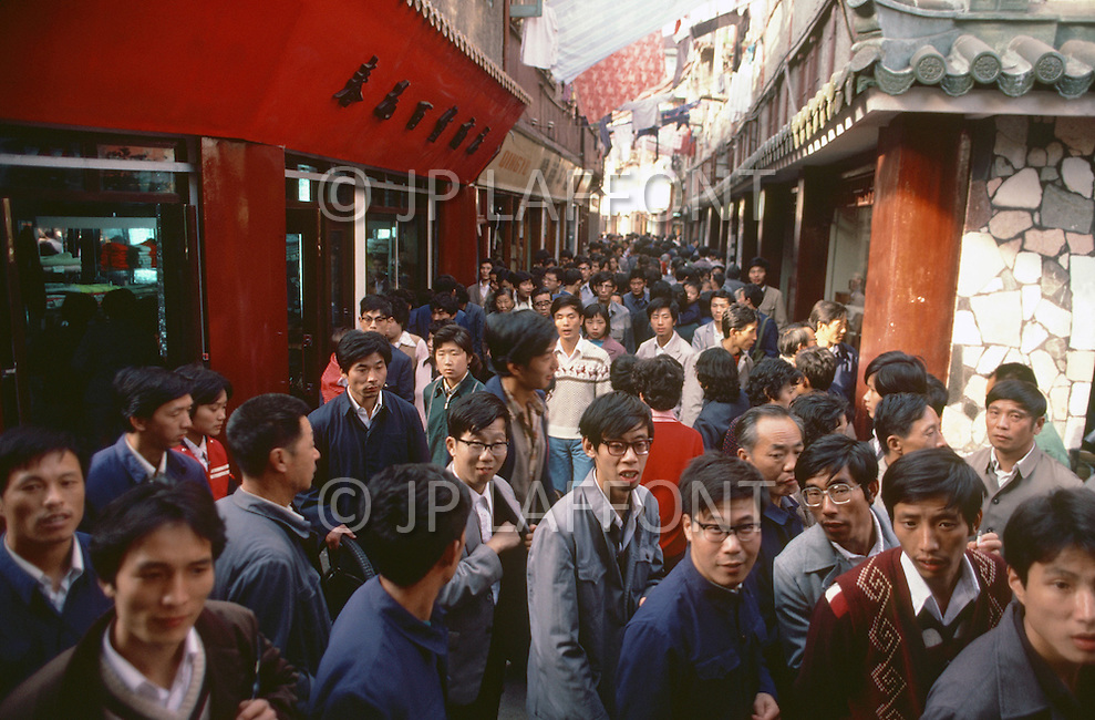 October 1984. Shanghai, the old district area.