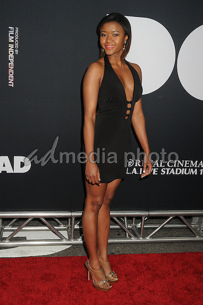 "8 June 2015 - Los Angeles, California - Amira Lumbly. LA Film Festival 2015 Premiere of ""Dope"" held at Regal Cinemas L.A. Live. Photo Credit: Byron Purvis/AdMedia"