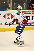 March 15, 2009:  Defenseman Mathieu Carle (72) of the Hamilton Bulldgos, AHL affiliate of Montreal Canadians, during overtime of a regular season game at the Blue Cross Arena in Rochester, NY.  Hamilton defeated Rochester 4-3 in a shoot out.  Photo Copyright Mike Janes Photography 2009