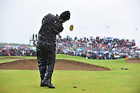 Robert Rock plays his 3rd shot into the 18th during the 3rd playoff  hole during the Final Round of the 3 Irish Open on 17th May 2009 (Photo by Eoin Clarke/GOLFFILE)