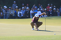 Tommy Fleetwood (ENG) on the 13th green during Round 4 of the UBS Hong Kong Open, at Hong Kong golf club, Fanling, Hong Kong. 26/11/2017<br /> Picture: Golffile | Thos Caffrey<br /> <br /> <br /> All photo usage must carry mandatory copyright credit     (&copy; Golffile | Thos Caffrey)