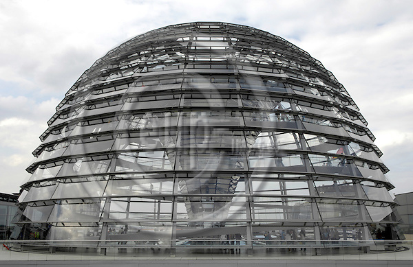 Berlin-Germany - 31 May 2007---The building of the German Reichstag, seat of the German Parliament / Bundestag; here, the walkable glass dome / cupola on top ---Photo: Horst Wagner/eup-images