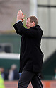 Stevenage manager Gary Smith acknowledges the fans after their 6-0 victory. - Yeovil Town v Stevenage - npower League 1 - Huish Park, Yeovil - 14th April, 2012 . © Kevin Coleman 2012..