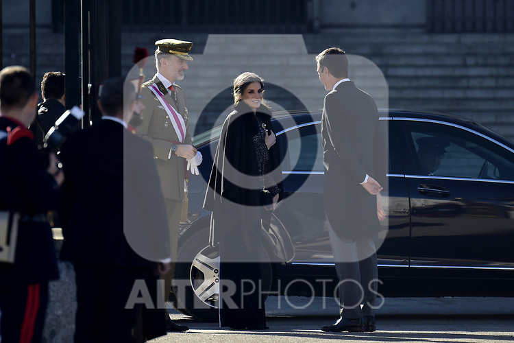 King Felipe VI of Spain, Queen Letizia of Spain and Pedro Sanchez attends to Pascua Militar at Royal Palace in Madrid, Spain. January 06, 2019. (ALTERPHOTOS/Pool)