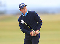 Paul Dunne (IRL) on the 17th green during Round 4 of the 2015 Alfred Dunhill Links Championship at the Old Course in St. Andrews in Scotland on 4/10/15.<br /> Picture: Thos Caffrey | Golffile
