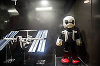 Tokyo- Museo nazionale delle nuove scienze e dell'innovazione - The National Museum of Emerging Science and Innovation (Miraikan) Kirobo, the first astronaut robot, that was in the International Space Station in 2013