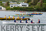 Action from the start of the Senior Ladies race at the Cahersiveen Regatta on Sunday with ten crews in the water.