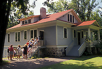 AJ2868, Charles Lindbergh, Minnesota, Charles Lindbergh boyhood home at the Charles A. Lindbergh House State Historic Site in Little Falls in the state of Minnesota.