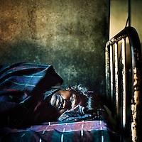 A man with malaria in a clinic in Orissa, which is the Indian state most affected by malaria, with 25 to 30 percent of all malaria cases diagnosed in the country.