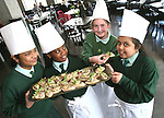 Darshini Narain, Jasmine Oyeku, Niamh Keenan and Geyaamalika at the Launch of The Fatima Girls NS Cookery Book in the Eastern Seaboard Restaurant. .Photo NEWSFILE/Jenny Matthews.(Photo credit should read Jenny Matthews/NEWSFILE)....This Picture has been sent you under the condtions enclosed by:.Newsfile Ltd..The Studio,.Millmount Abbey,.Drogheda,.Co Meath..Ireland..Tel: +353(0)41-9871240.Fax: +353(0)41-9871260.GSM: +353(0)86-2500958.email: pictures@newsfile.ie.www.newsfile.ie.FTP: 193.120.102.198.