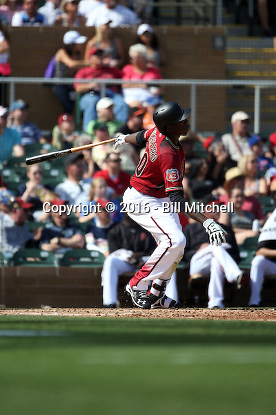 Gabby Guerrero - Arizona Diamondbacks 2016 spring training (Bill Mitchell)