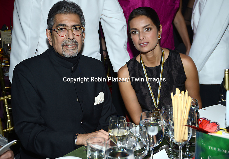 Sonny Mehta and nominee Jhumpa Lahiri attends the 2013 National Book Awards Dinner and Ceremony on November 20, 2013 at Cipriani Wall Street in New York City.