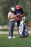 Tommy Fleetwood (ENG) on the 3rd fairway during Round 2 of the Omega Dubai Desert Classic, Emirates Golf Club, Dubai,  United Arab Emirates. 25/01/2019<br /> Picture: Golffile | Thos Caffrey<br /> <br /> <br /> All photo usage must carry mandatory copyright credit (© Golffile | Thos Caffrey)