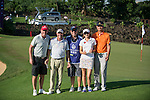 (L-R) Gary McAllister, Rich Beem, unidentified, Cindy Lee, Cao Weiyu during the World Celebrity Pro-Am 2016 Mission Hills China Golf Tournament on 22 October 2016, in Haikou, China. Photo by Marcio Machado / Power Sport Images