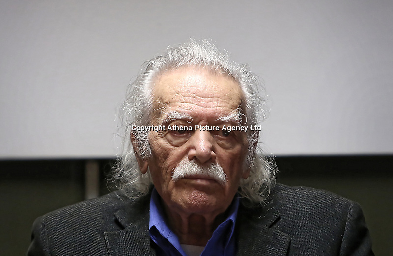 Pictured: Manolis Glezos. STOCK PICTURE<br /> Re: Manolis Glezos, who took down a flag with a swastika from the Acropolis 30th of May 1941.
