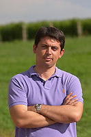 Stefanos Koundouras, agronomist viticulturist. Alpha Estate Winery, Amyndeon, Macedonia, Greece