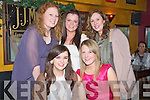 DOUBLE: Deirdre Poff, Blennerville  celebrates Womens Christmas and her Birthday on Thursday night in Baily's Croner, Tralee  with her friends, Front l-r: Fiona Herlihy and Deirdre Poff. Back l-r: Michelle Conway, Laura Wyles and A?ine Rice..