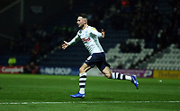 Preston North End's Alan Browne is swamped by with team-mates as he celebrates scoring the opening goal<br /> <br /> Photographer Stephen White/CameraSport<br /> <br /> The EFL Sky Bet Championship - Preston North End v Middlesbrough - Tuesday 27th November 2018 - Deepdale Stadium - Preston<br /> <br /> World Copyright © 2018 CameraSport. All rights reserved. 43 Linden Ave. Countesthorpe. Leicester. England. LE8 5PG - Tel: +44 (0) 116 277 4147 - admin@camerasport.com - www.camerasport.com