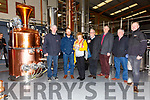 Getting a tour of the Gin Still at the indoor Aonach Bia with local food producers from the Skellig Coast Region as part of a National taste the Island Campaign held at the SkelligSix18 Distillery, Cahersiveen on Sunday were front l-r; Paul Clifford, John Murphy, Maura McCoy, Frank McCoy, James Sugrue, Joe McCrohan & Stephen Kelleghan(Gin Production Manager Skellig Six18)