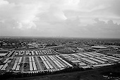 New Orleans, Louisiana.USA.July 31, 2006..Aerials of New Orleans nearly one year after hurricane Katrina hit and the levees broke. Nearly 80% of the city was flooded...FEMA trailer housing for the University.