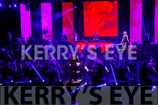 Jenny Greene and singer Gemma Sugrue Killarney performing with the RTE Concert Orchestra in the INEC on Saturday night