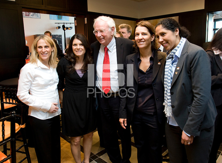 Klaus Scharioth, Mia Hamm, Kristine Lilly, Tatjana Haenni, Steffi Jones. A Welcome USA reception for the FIFA Women's World Cup 2011 was held at the German ambassador's residence in Washington, DC.