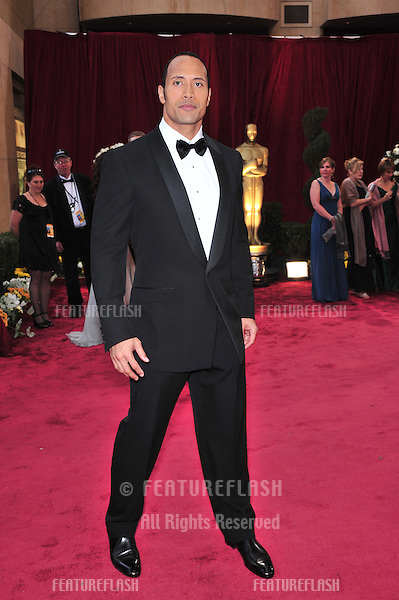 Dwayne Johnson at the 80th Annual Academy Awards at the Kodak Theatre, Hollywood, CA..February 24, 2008 Los Angeles, CA.Picture: Paul Smith / Featureflash