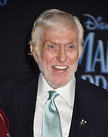 LOS ANGELES, CA - NOVEMBER 29: Dick Van Dyke attends the Premiere Of Disney's 'Mary Poppins Returns' at El Capitan Theatre on November 29, 2018 in Los Angeles, California.<br /> CAP/ROT/TM<br /> &copy;TM/ROT/Capital Pictures