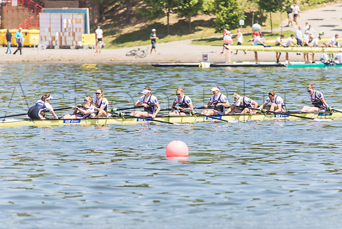 June 18th 2017; Poznan, Poland; 2017 World Rowing Cup II; Final A  n z Annie Withers, Sara Parfett, Caragh Mcmurtry, Rebecca Chin, Josephine Wratten, Katherine Douglas, Karen Bennett, Rebecca Shorten, Matilda Horn (GBR) Womens eights