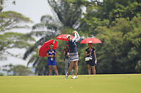 Marina Alex (USA) in action on the 18th during Round 3 of the HSBC Womens Champions 2018 at Sentosa Golf Club on the Saturday 3rd March 2018.<br /> Picture:  Thos Caffrey / www.golffile.ie<br /> <br /> All photo usage must carry mandatory copyright credit (&copy; Golffile | Thos Caffrey)