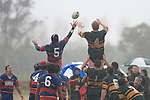 As the rain comes down Michael Sala & William Crisp try to claim lineout ball. Counties Manukau Premier Club Rugby semi final game between Ardmore Marist & Pukekohe played at Bruce Pulman Park Papakura on Saturday July 19th 2008. Ardmore Marist won 18 - 15 & will meet Patumahoe in the final next weekend.