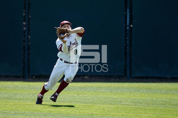 STANFORD, CA - April 19, 2014: Stanford vs Arizona State at Klein Field, Sunken Diamond Stadium.  Stanford won 1-0.