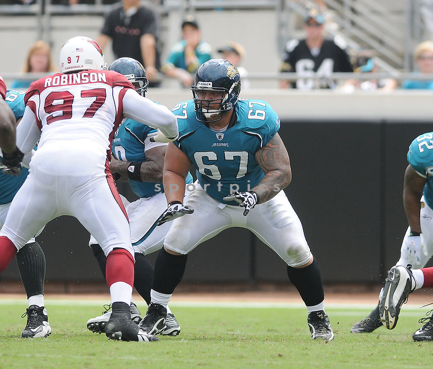 VINCE MANUWAI,of the Jacksonvile Jaguarss , in action during the Jaguars game against the Arizona Cardinalss on September 20, 2009 Jacksonvile, FL.  The Cardinals beat the Jaguars 31-17.