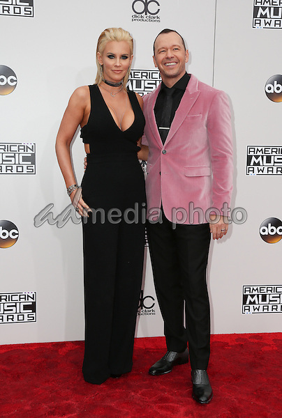20 November 2016 - Los Angeles, California - Donnie Wahlberg, Jenny McCarthy. 2016 American Music Awards held at Microsoft Theater. Photo Credit: PMA/AdMedia
