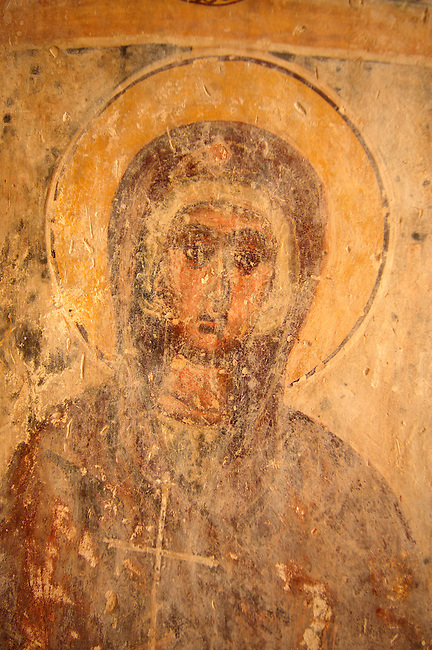Fresco of of Ayii Theodori, Paliachora,   Aegina, Greek Saronic Islands